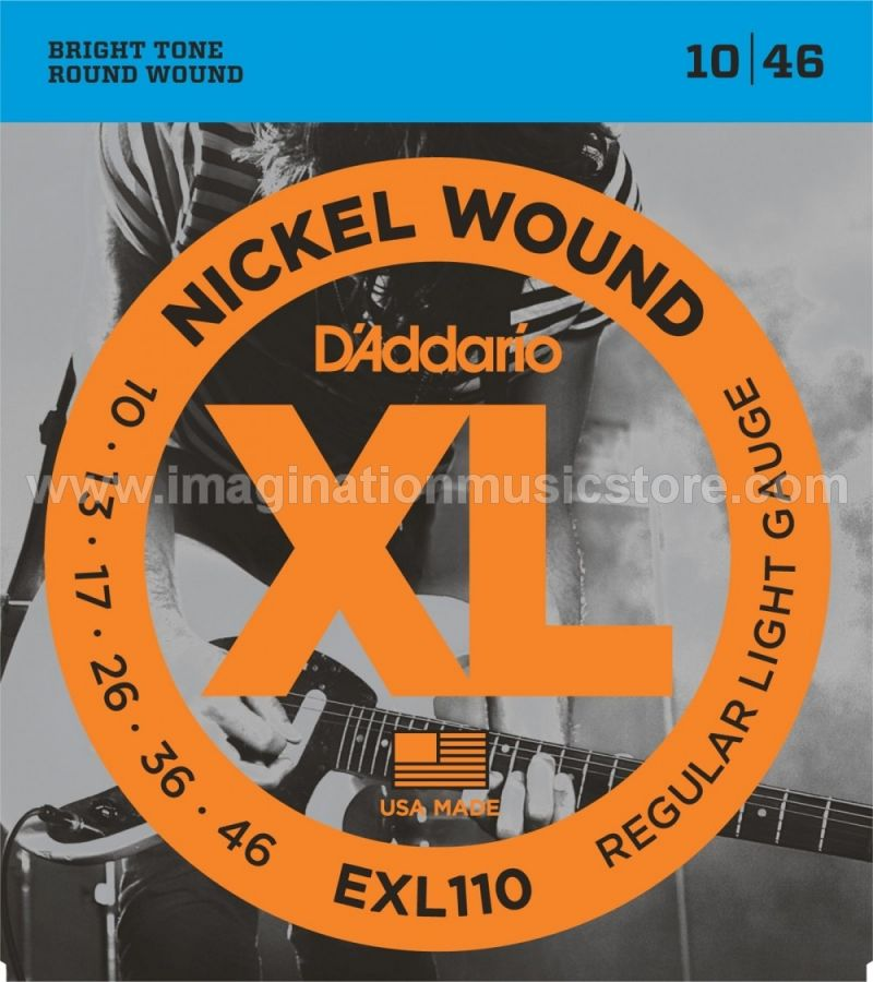 D`Addario EXL110 Nickel Wound Light Electric Strings