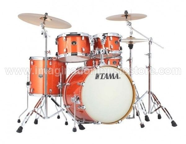 Tama VD52KRS-BOS Silverstar 5 Pc Drum Kit - Bright Orange Sparkle