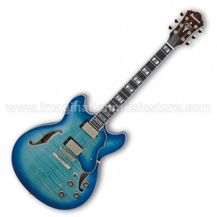 Ibanez Artstar AS153 Semi-Hollow in Jet Blue Burst