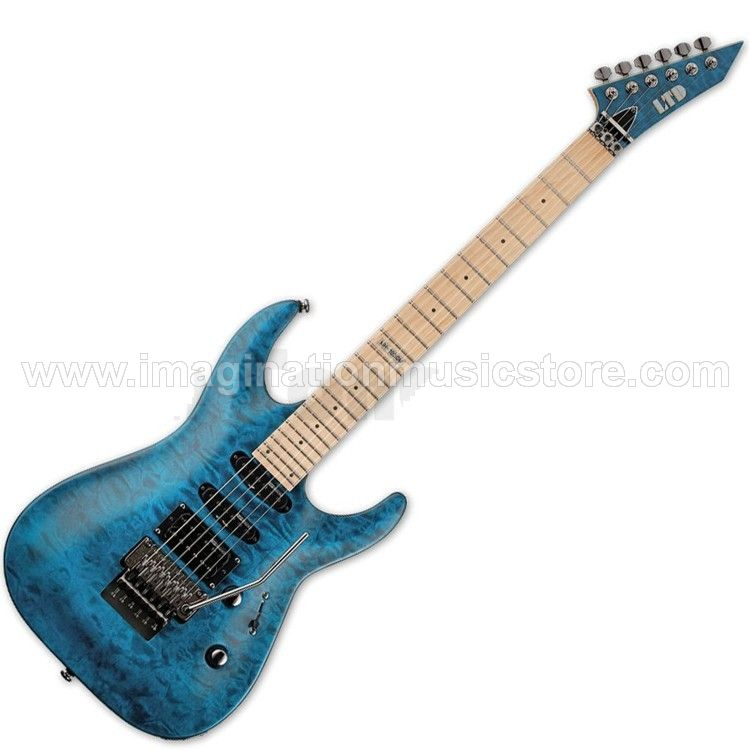 ESP LTD MH-103QM Quilted Maple in See Thru Blue