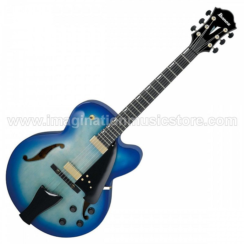 Ibanez Artcore AFC155-JBB Jet Blue Burst With Case Contemporary Archtop