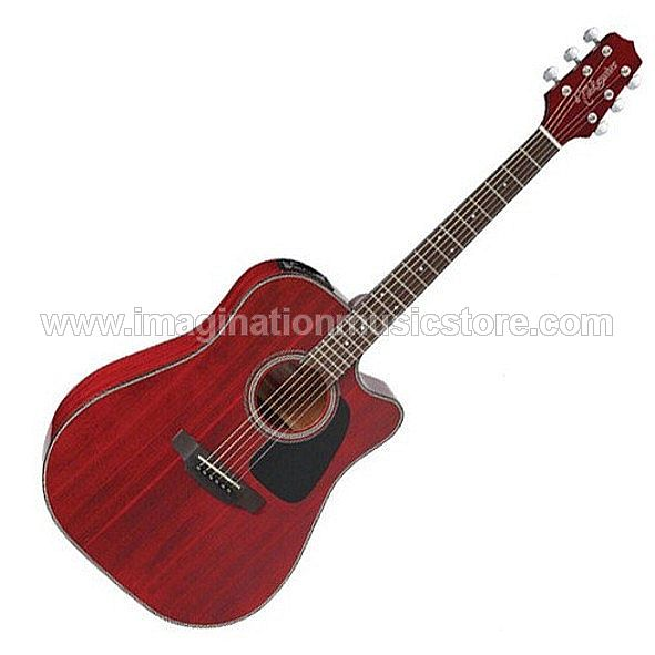 Takamine ED2DC Dreadnought Cutaway Acoustic Electric - Wine Red