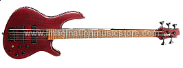 Cort Artisan B5 Plus AS RM-OPBR Open Pore Burgundy Red Electric Bass
