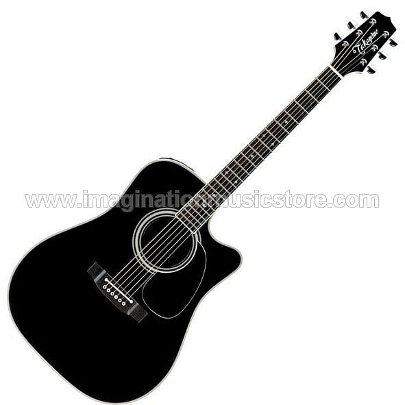 Takamine ED2DC Dreadnought Cutaway Acoustic Electric - Black