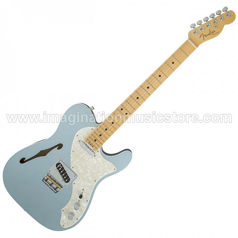 Fender American Elite Telecaster Thinline MN - Mystic Ice Blue
