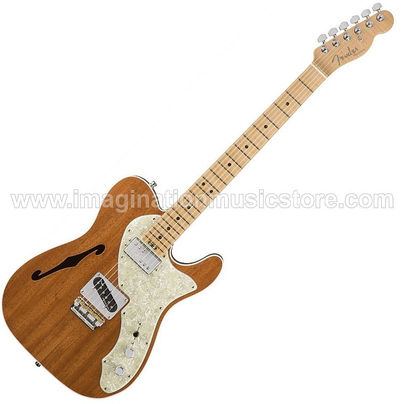 Fender Exotic Series American Elite Mahogany Telecaster Thinline - Natural