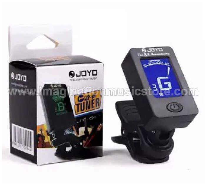 JOYO JT-06 Chromatic Mini Clip On Guitar Tuner with Backligt, Black