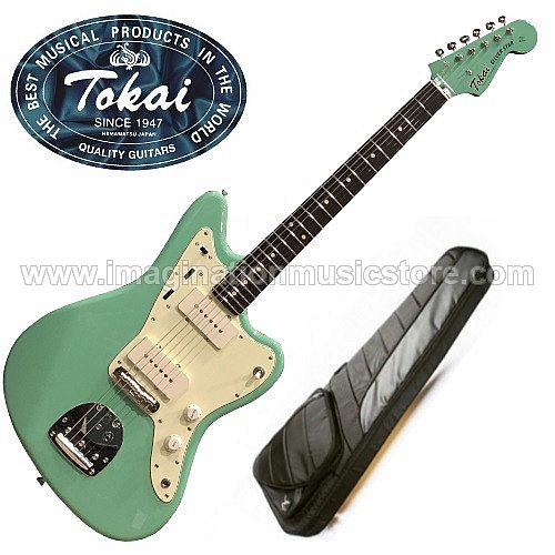 Tokai TJM-140 MH Silverstar Offset in Seafoam Green with Matching Headstock