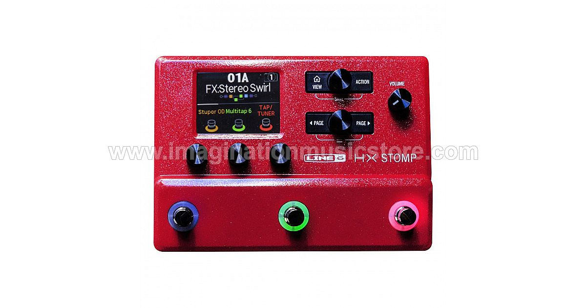 Line 6 HX Stomp Limited Edition Red Guitar Multi-effects Floor Processor