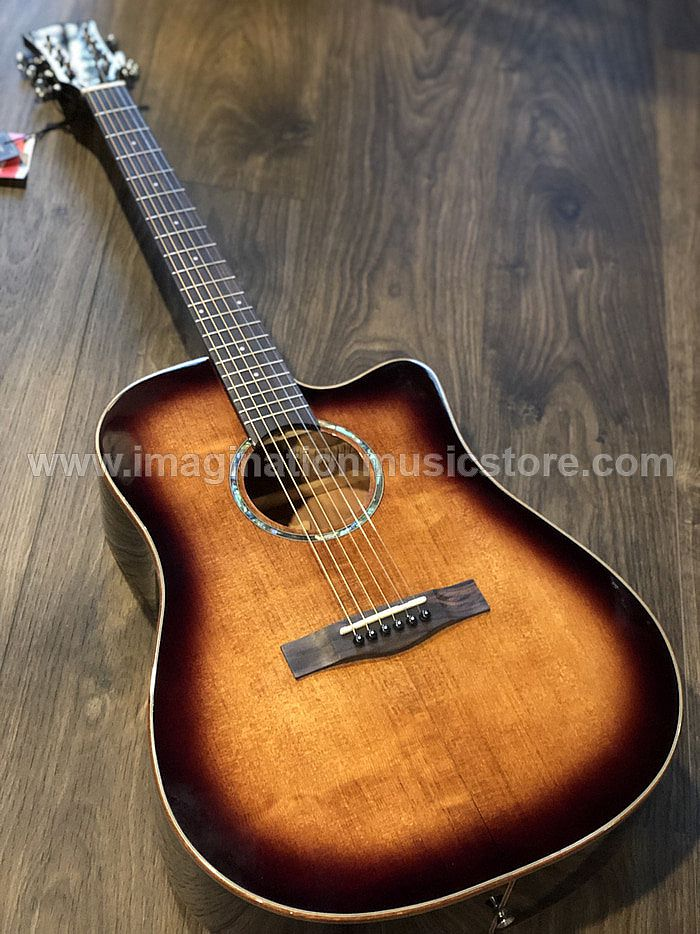 SQOE Spain S370 FG Acoustic guitar with solid top in Sunburst