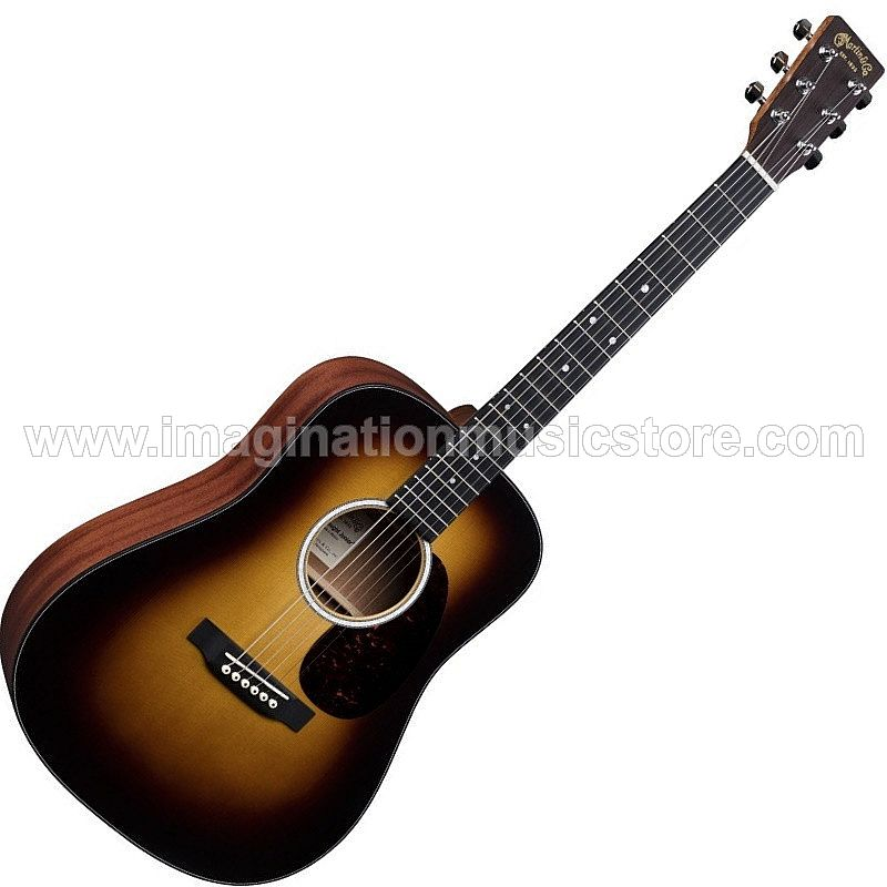 Martin DJR-10E Junior Dreadnought Acoustic in Sunburst with Fishman Sonitone Electronics