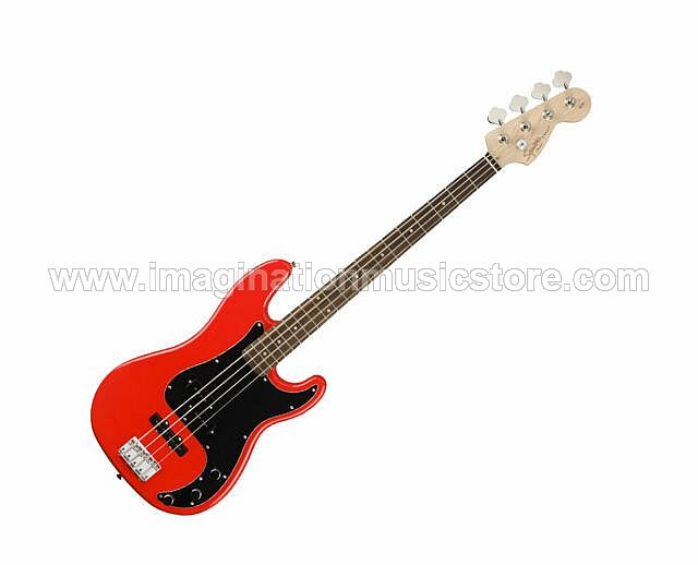 Squier Affinity Precision Bass PJ - Race Car Red with Laurel FB