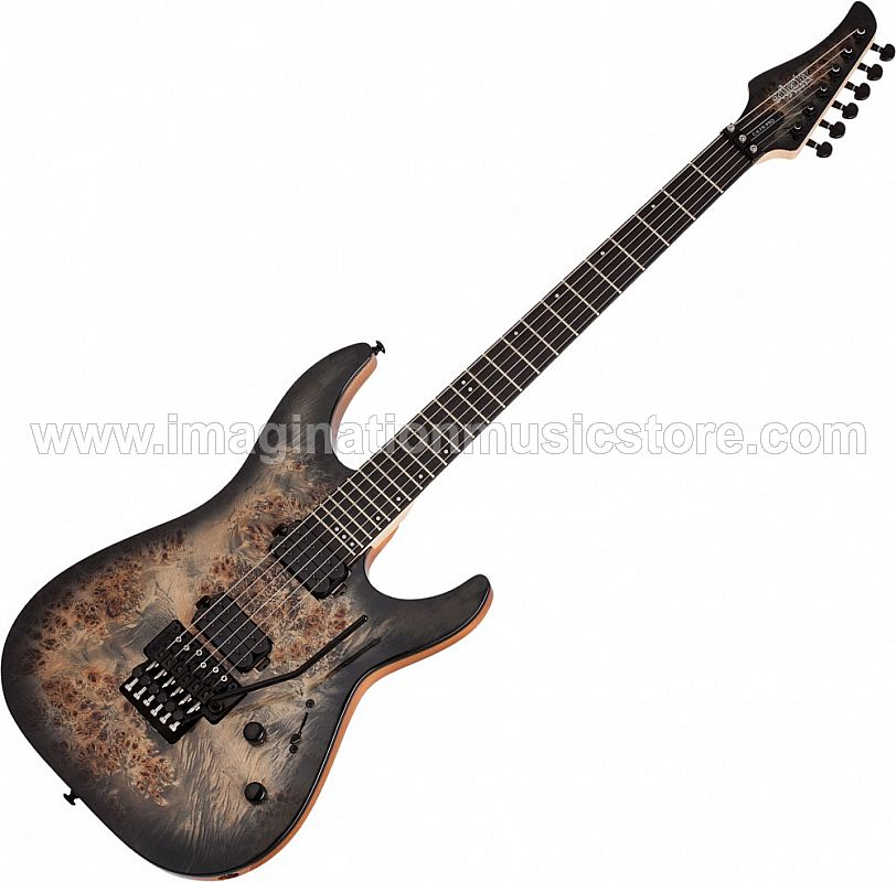 Schecter C-6 FR PRO in Charcoal Burst