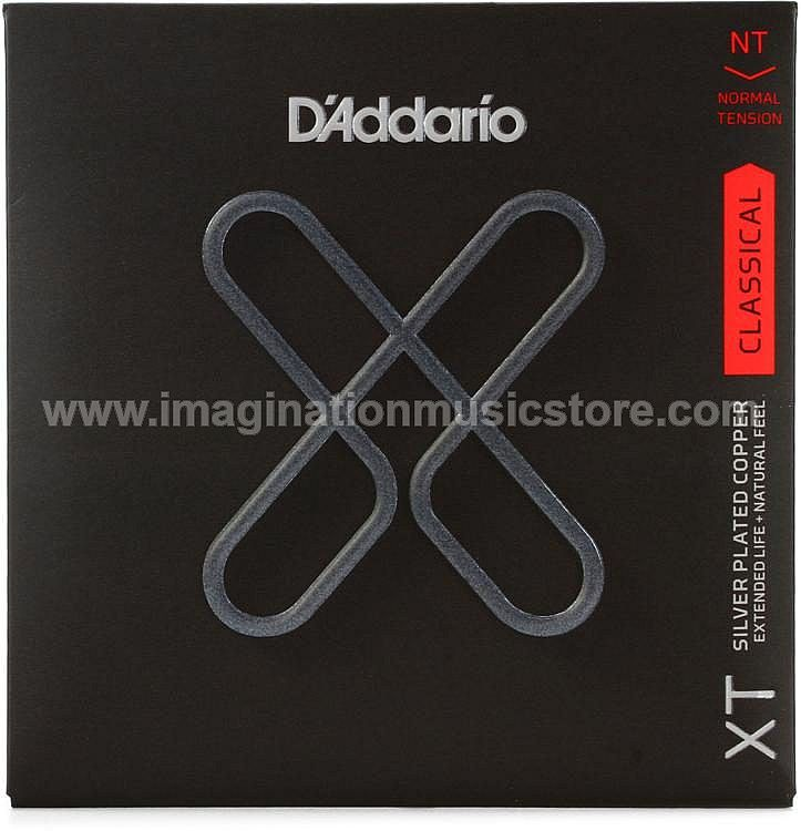 D'Addario XTC45 XT Classical Silver Plated Copper Classical Guitar Strings Normal Tension