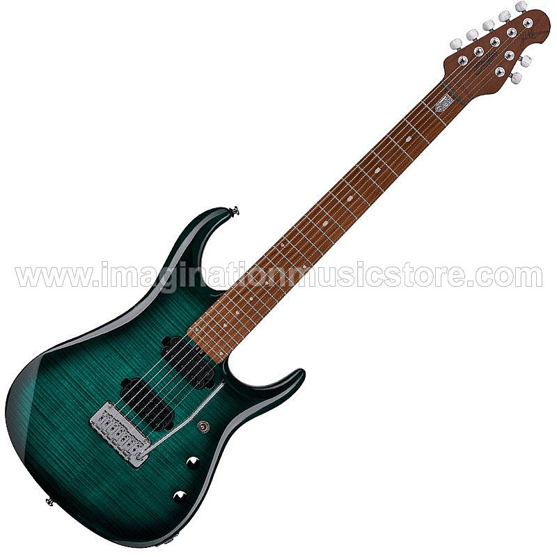 Sterling JP157FM TL by Music Man John Petrucci Flamed Maple Top 7 String in Teal