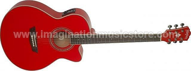 Washburn EA18 TR K Quilted Ash Cutaway Acoustic-Electric Guitar