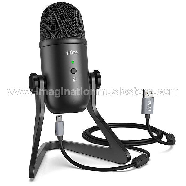 Fifine K678 - USB Condenser Mic with Volume and Headphone Control