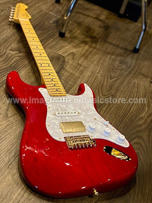Tokai AST-118SH-GH SR/M Goldstar Sound HSS Limited Edition Seethru Red with Gold Hardware