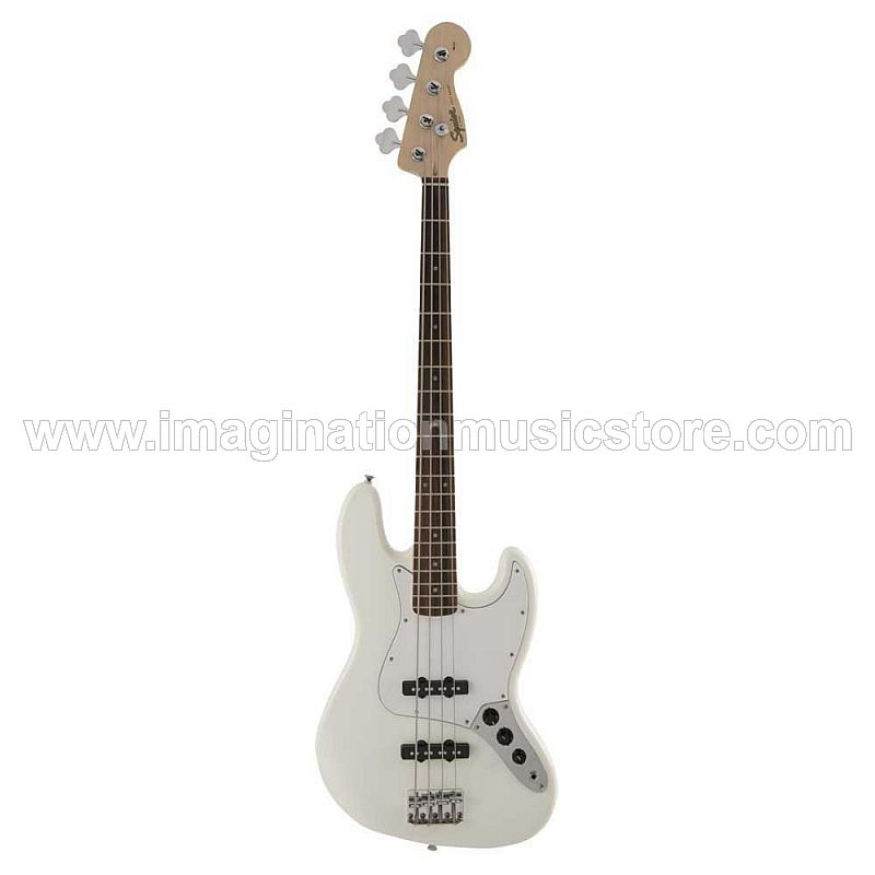 Squier FSR Affinity Jazz Bass Laurel FB in Olympic White