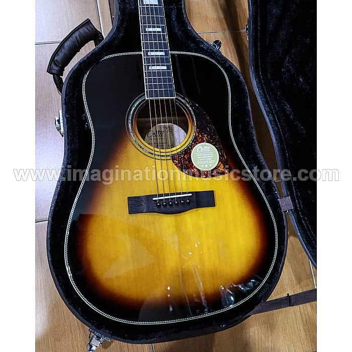 Cetta DR32SE TVS Acoustic Electric Guitar with Fishman Preamp and Hardcase