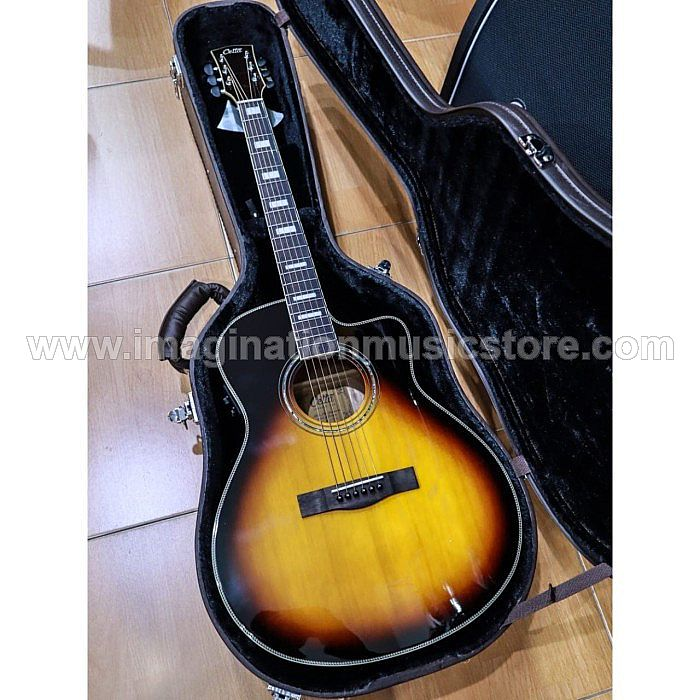 Cetta LV33SE TVS Acoustic Electric Guitar with Fishman Preamp and Hardcase