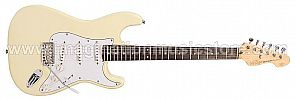 Vintage V6 Reissued Electric Guitar V6VW - Vintage White