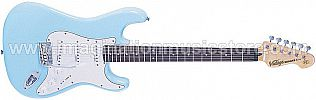 Vintage V6 Reissued V6LB Laguna Blue Electric Guitar