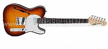 Vintage Custom Spec TL V72FTB Flamed Tobacco Burst