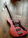 Soloking MJ-1 Custom Bass in Transparent Crimson Red with Roasted Maple Neck