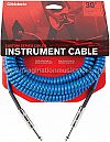 D`addario Coilet Instrument Cable 30 Ft Blue PW-CGD-30BU