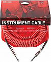 D'Addario PW-CDG-30RD Coiled Instrument Cable - 30' Red