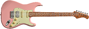 Bacchus BST-2-RSM/M Shell Pink Roasted Maple Series Stratocaster Model