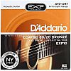 D'Addario EXP10 Extra Light Coated 80/20 Bronze Acoustic Strings - .010-.047